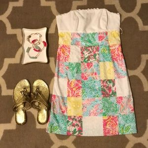 """Lilly """"Franco"""" patchwork strapless dress"""